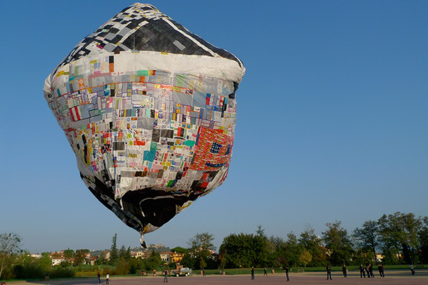 recycled plastic bags hot air balloon