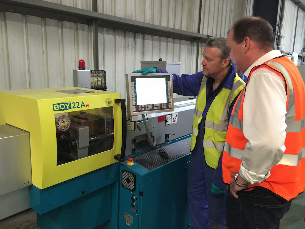 PLASgran Takes Delivery Of New BOY 22 Tonne Injection Moulding Machine