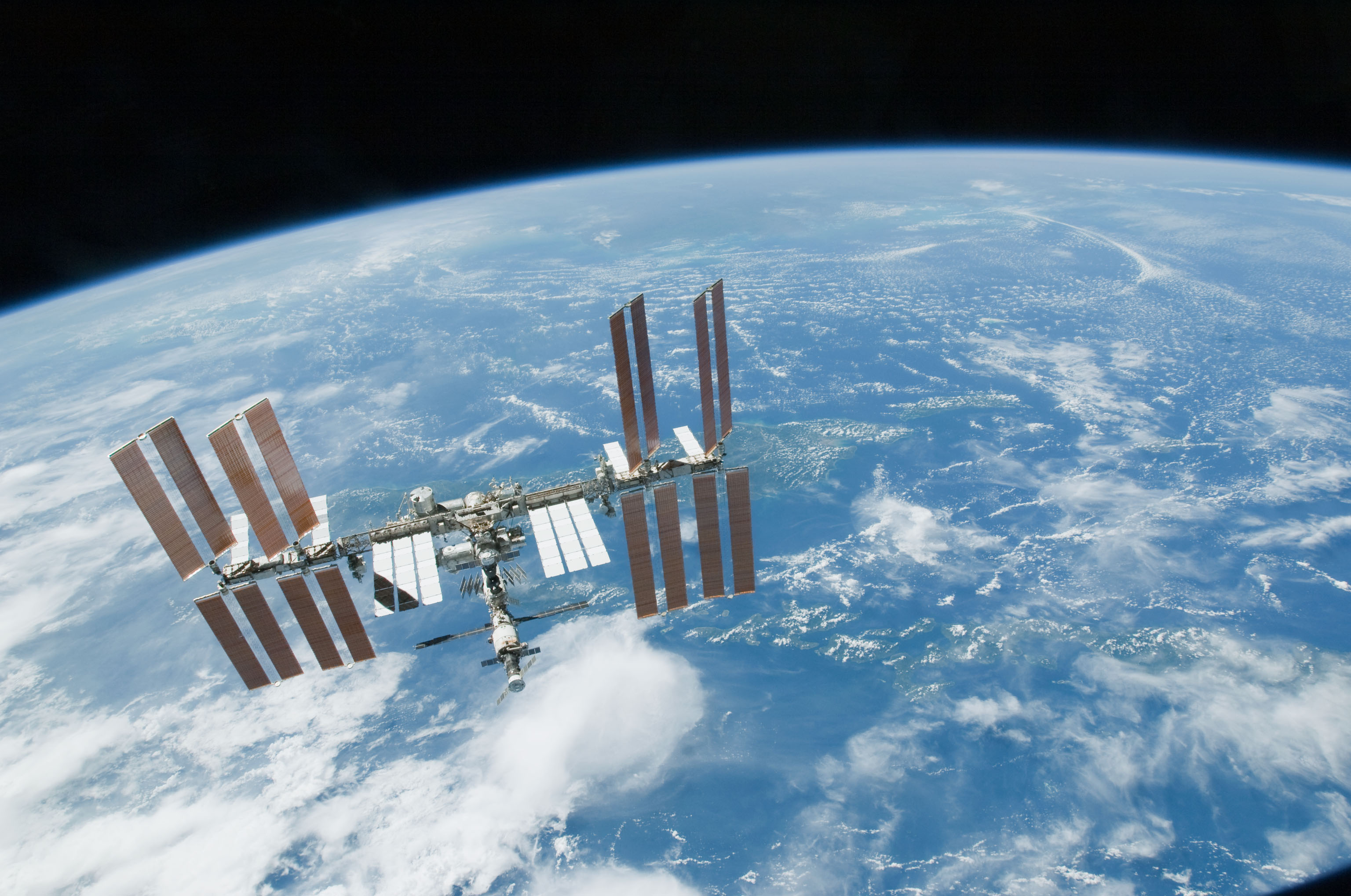 Space Station Over Earth