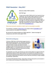 PIRAP newsletter