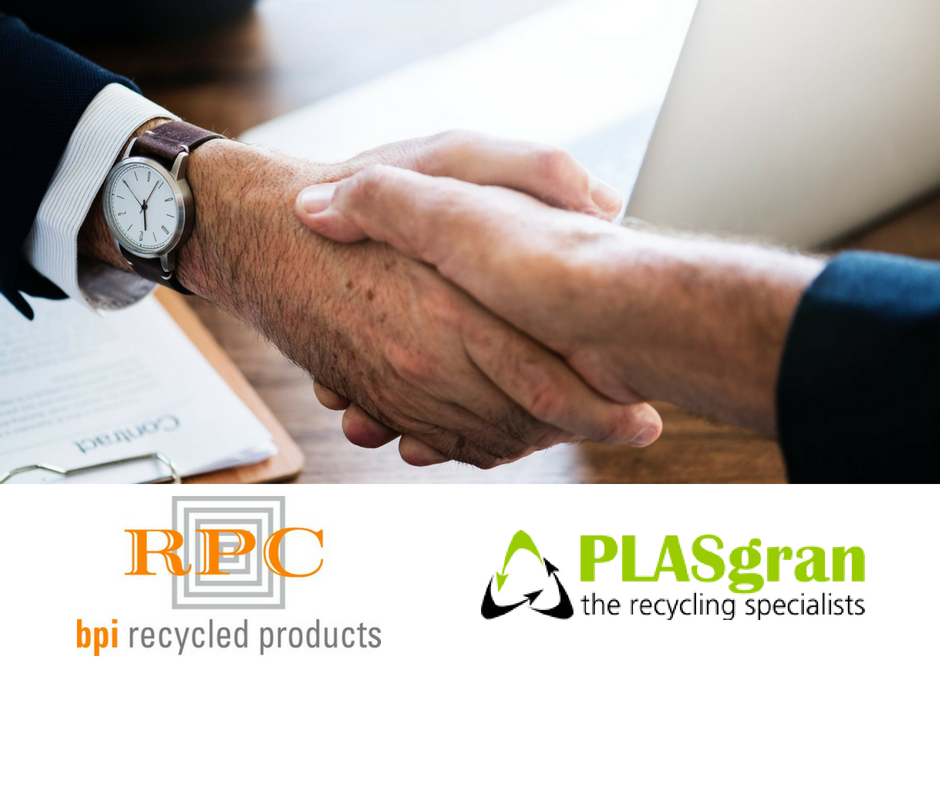 RPC Bpi Recycled Products Helps Boost UK Recycling With The Acquisition Of Leading Rigid Plastics Recycler PLASgran