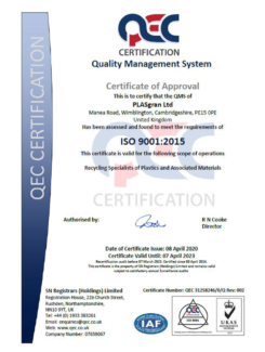 ISO 9001 2020 Certificate