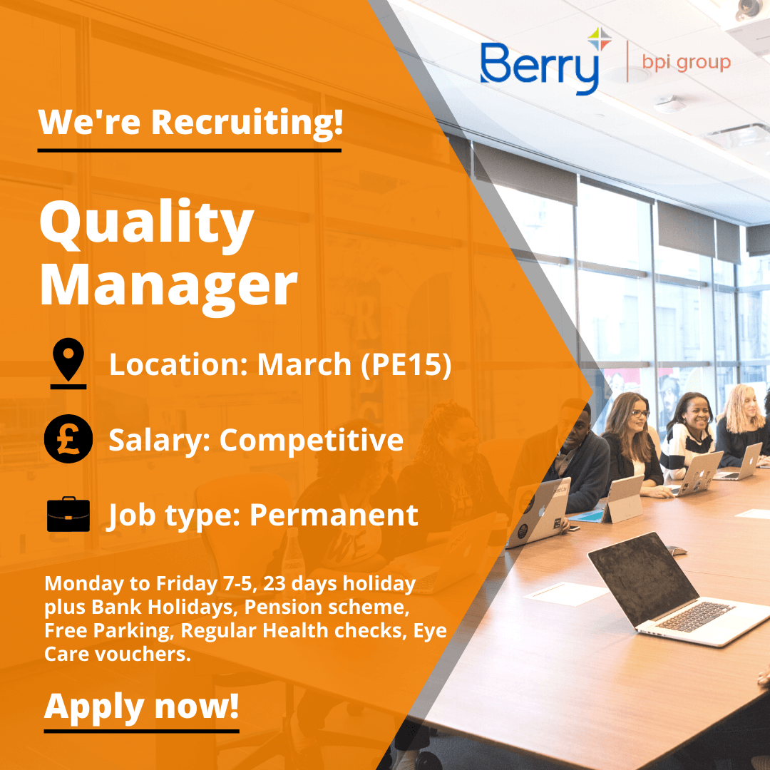 Quality Manager vacancy