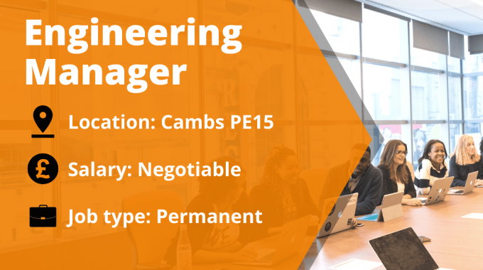 New Vacancy For A Engineering Manager